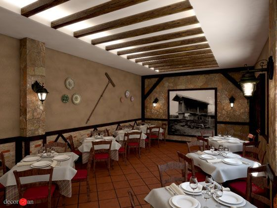 Decoraci N De Restaurante R Stico En Madrid