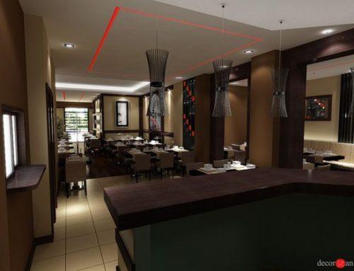 Diseño de restaurante asiático con estilo tradicional