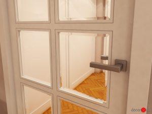 Puerta de paso con cristal biselado