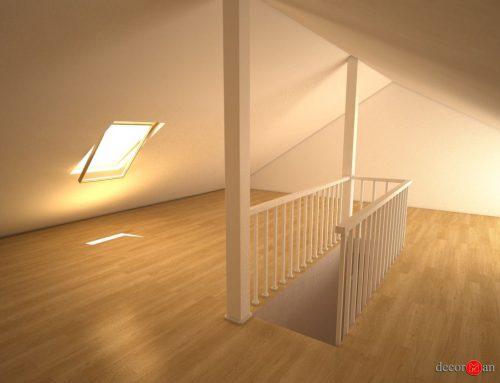 Diseño y decoración de duplex en 3D en Madrid