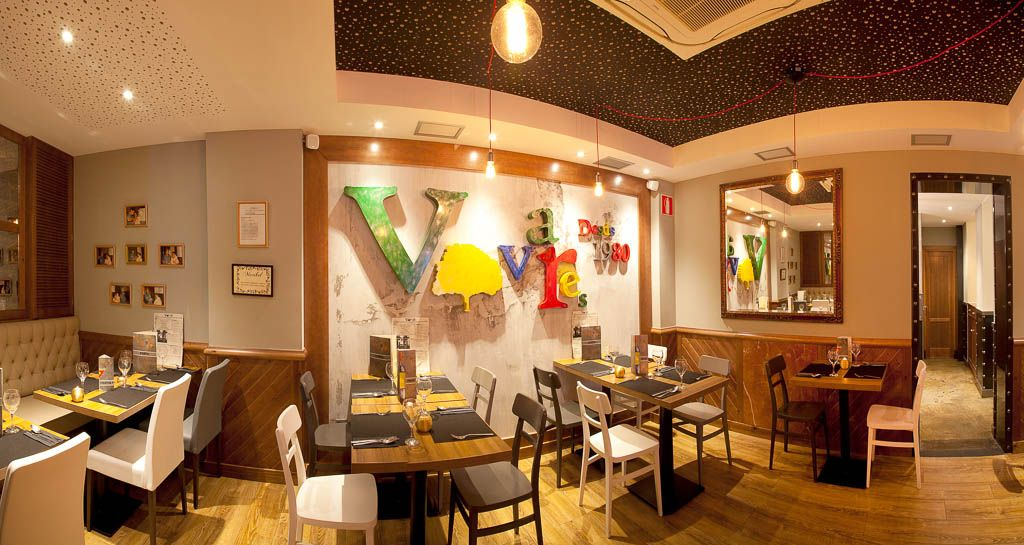 Decoración del restaurante Vivares en Madrid