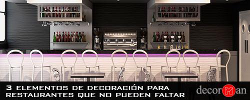 decoración para restaurantes
