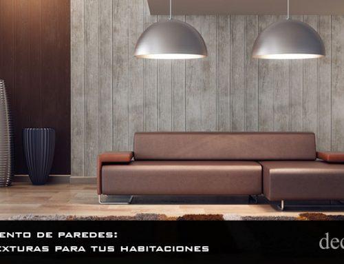 Revestimiento de paredes: nuevas texturas para tus habitaciones