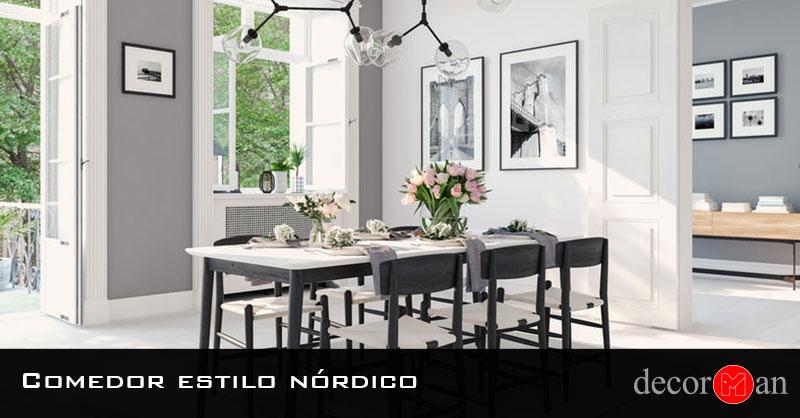 Comedor estilo nórdico