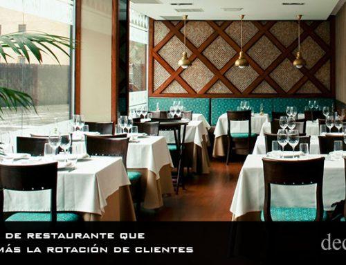 El diseño de restaurante que aumenta más la rotación de clientes