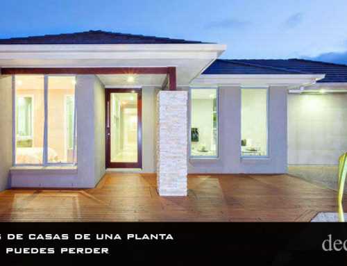 6 diseños de casas de una planta que no te puedes perder