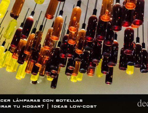 ¿Cómo hacer lámparas con botellas para decorar tu hogar? | Ideas low-cost