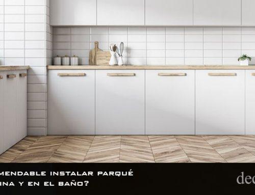 ¿Es recomendable instalar parqué en la cocina y en el baño?