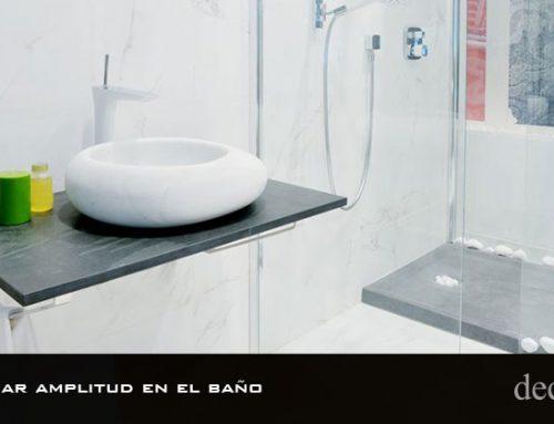 Cómo ganar amplitud en el baño